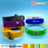 Sicherheit 13.56MHz MIFARE DESFire EV1 2K Rewearable Silikon RFID Armband