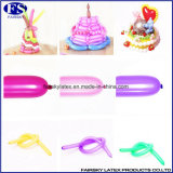 #260熱い販売の気球をねじる長い乳液の気球