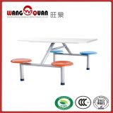Стекловолоконные столовой письменный стол и стулья школы стали столовой набора таблиц