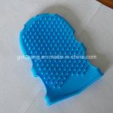 Guante cómodo y práctico del baño del masaje del silicón