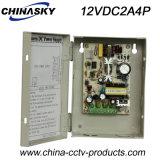 Alimentazione elettrica della videocamera di sicurezza di CC 4p 12V 2A (12VDC2A4P)