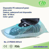 PE desechable cubierta impermeable Green Shoe