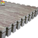 Melhores materiais espuma de EVA Kamiqi Puzzle os tapetes de grãos de madeira