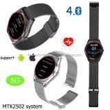 Bluetoothの心拍数のモニタN3が付いているスマートな腕時計の電話