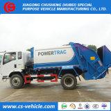 HOWO 4X2 10m3 작은 쓰레기 트럭 사용된 쓰레기 쓰레기 압축 분쇄기 트럭