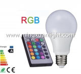 Lâmpada de controle remoto do bulbo do diodo emissor de luz do RGB de 16 cores do poder superior 10W E27
