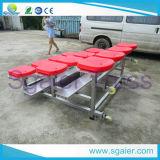 Gimnasio portátil con ruedas asiento gradas