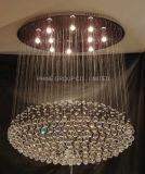 Iluminación de techo de cristal K9 Phine decoración moderna lámpara del accesorio