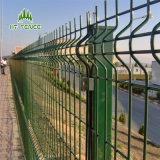 Revêtement en poudre clôture treillis soudé de couleur verte