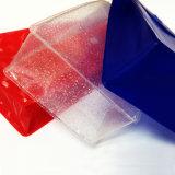 De transparante Zak van de Make-up van pvc van Handvatten met Knoop