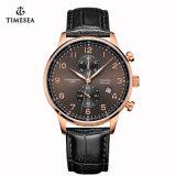 Hommes de montre de chronographe d'acier inoxydable de mode avec le Japon Movt 72186
