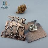 Punti all'ingrosso che lanciano il fornitore molle d'argento antico di Pin del risvolto del metallo dello smalto