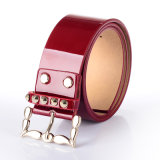 Estilo de Design Inglês Shiny PU Leather Ladies Fashion Belt (RS-1509014)