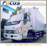 Factory Price 4X2 6t Refrigerator Van Truck Vehicle with Refrigeration Links