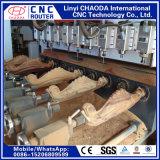 Router do CNC de 4 linhas centrais para os pés da mobília, poltronas, corrimão