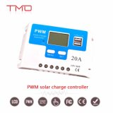 12V 12 volts controlador solar inteligente da carga de 20 ampères com indicador do LCD e soquetes do USB