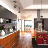 براون المعاصرة PVC وحدات أثاث المطبخ (OP15-PVC02)
