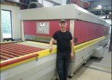 平たい箱およびくねりのガラス和らげる機械