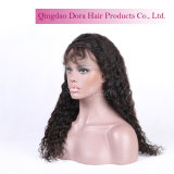 Jungfrau Remy Haar-Italien-lockige chinesische volle Spitze-Perücke mit dem Baby-Haar