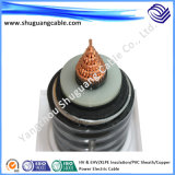 Hv/Ehv/XLPE Insulation/Corrugated/PVC and PE Sheath/Electric Power Cable