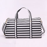 Alta Qualidade Atacado Nylon Carry Bag Stripe Handbag for Travel