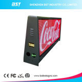 3G / 4G / WiFi Wireless Dual Side P5 Full Color Taxi Top Display LED para publicidade
