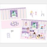 Los niños Fancy Pop-up adhesivo reutilizable de Libro de notas con escenas separadas