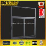 Windows de desplazamiento de cristal de aluminio en el polvo cubierto
