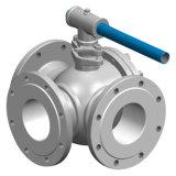 Трехходовая нержавеющая сталь привинчила шариковый клапан