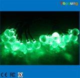 Работает от батареи индикатор зеленый шарик Crystal 10светодиоды строка