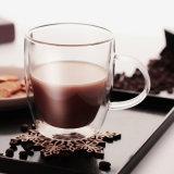 150ml hechos a mano de buena calidad de doble pared de vidrio de borosilicato de alta taza de té