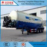 de carbón 27.5cbm del acero del petrolero acoplado semi para el cemento/el material del polvo/la Cemento-Descarga a granel