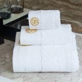 Il cotone all'ingrosso 100% di colore solido squisito ha fatto a casa/tovagliolo fronte dell'hotel, il tovagliolo di mano, tovagliolo di bagno