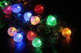 30 Chaîne solaire LED Boule de cristal de lumière pour patio/jardin/Parti/décoration de mariage