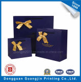 Color blu Paper Gift Bag con Ribbon Decoration
