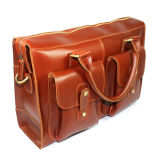 Портфель компьтер-книжки хорошего качества цены по прейскуранту завода-изготовителя рыжеватокоричневый кожаный для людей