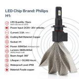 Jogo 60W 9600lm 6000k da conversão do farol do diodo emissor de luz de H1 a Philips para a VW