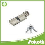 El doble sólido de la alta seguridad abre todo el bloqueo de cilindro euro de cobre amarillo del perfil