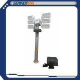 Senken 7.5m Mast-Beleuchtung-Aufsatz des Stativ-LED pneumatischer teleskopischer