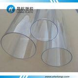 Policarbonato transparente tubos de plástico con alta calidad