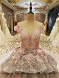 Reißverschluss-zurück wulstiges Organza-Ballkleid-Abend-Kleid