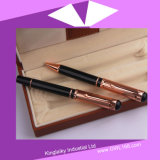 Rosa Golden Plating Pen in Set (penna di Gel e penna di Ball) Kp-035