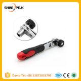 Мини-быстрого надев трещоточный гаечный ключ на 1/4 с плоским лезвием тяги Quick торцевой гаечный ключ инструменты красный