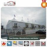 Tenda della tenda foranea della struttura del doppio ponte con le pareti di vetro per la mostra