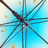 مظلة شفّافة مع بلاستيكيّة خطاف مقبض, [بو] مظلة مستقيمة مع صفارة