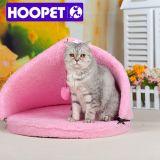 삼각형 개 침대 분홍색 닫집 고양이 집 천막 고양이 침대