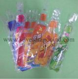 Изготовленный на заказ полиэтиленовый пакет с мешком пробки формы бутылки для пить