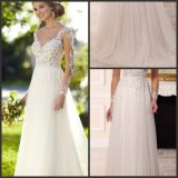 Платье венчания S201737 Princess Tulle мантий корсета шнурка втулок Bridal официально