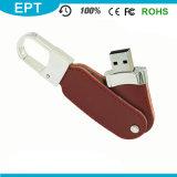 Keychain 가죽 Emoboss USB 섬광 드라이브 (TL013)를 자전하는 회전대