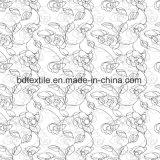 Impresión barata 100% del pigmento del poliester de la tela del colchón casero de la materia textil